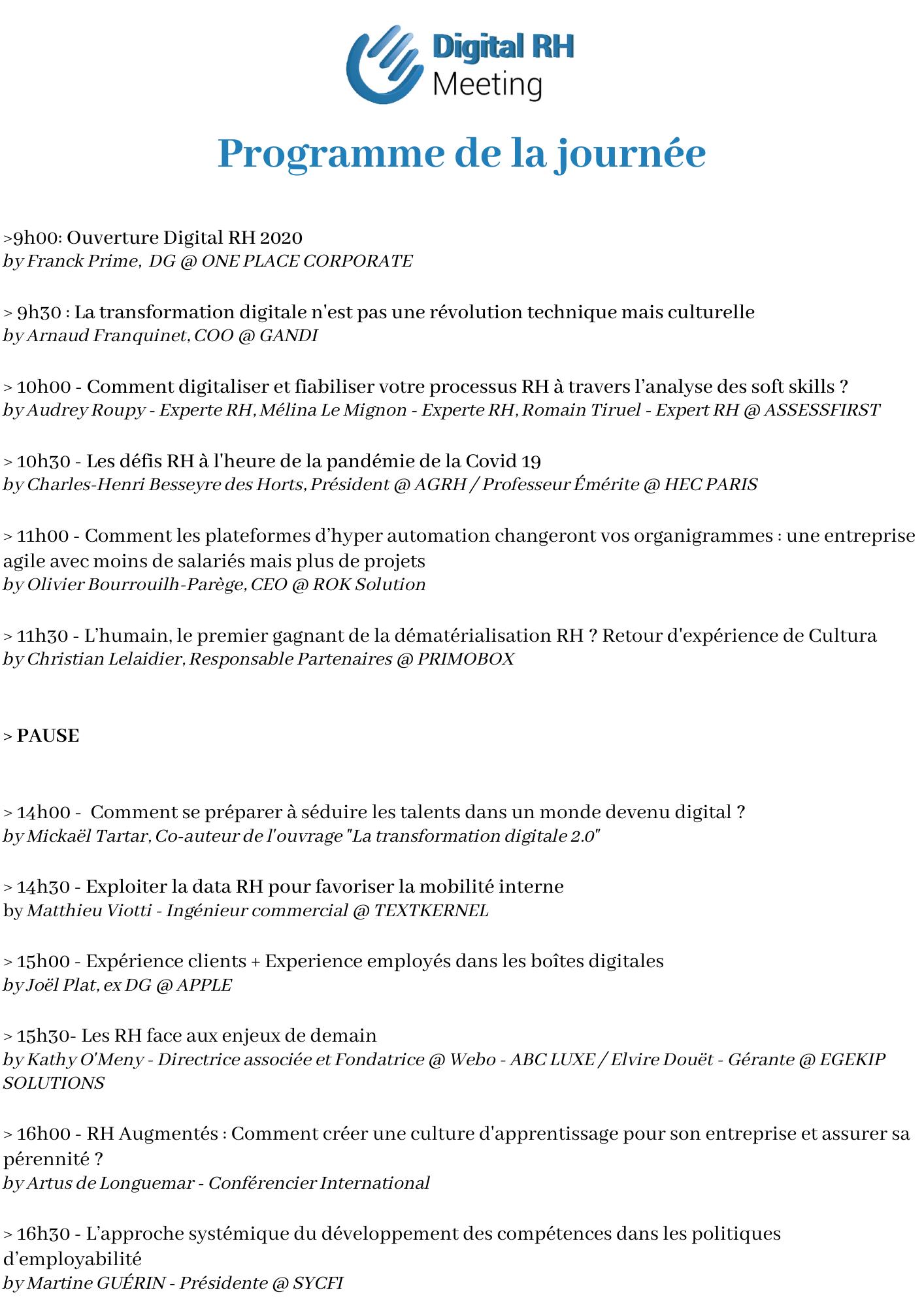 DRH 2021 - Programme de conférence